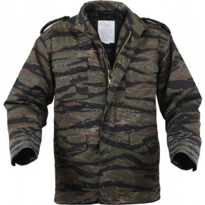 Tiger Stripe Camouflage Military M-65 Field Jacket