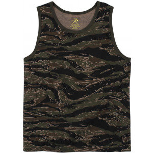 Tiger Stripe Camouflage Military Physical Training Tank Top