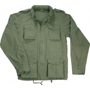 Sage Green Vintage Military Tactical Lightweight M-65 Field Jacket