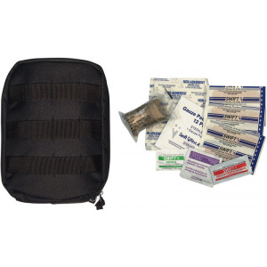 Black Military MOLLE Tactical First Aid Kit Pouch
