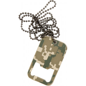 ACU Digital Camouflage Dog Tag Bottle Opener