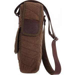 Earth Brown Vintage Canvas Shoulder Bottle Carry Bag