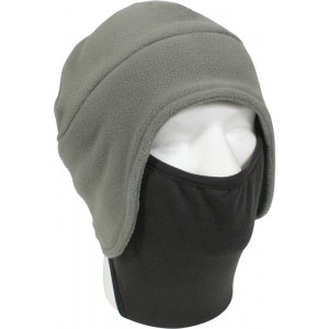 Foliage Green Convertible Fleece Beanie Cap & Polyester Face Mask