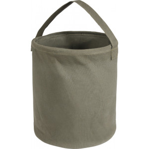 "Olive Drab Natural Canvas Water Bucket (13"" x 11"")"
