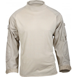 Khaki Military Heat Resistant Tactical Lightweight Combat Shirt
