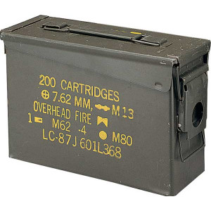 .30 Cal USED Metal Original US Military Surplus M19A1 Ammo Can