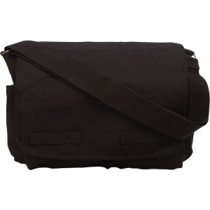 Black Heavy Weight Classic Messenger Shoulder Bag