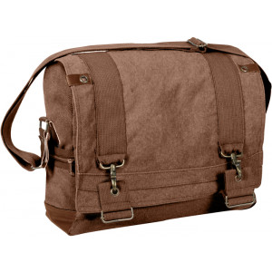 Brown Vintage Military B-15 Pilot Tactical Messenger Shoulder Bag