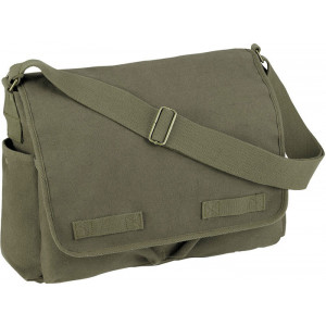 Olive Drab Heavy Weight Classic Messenger Shoulder Bag