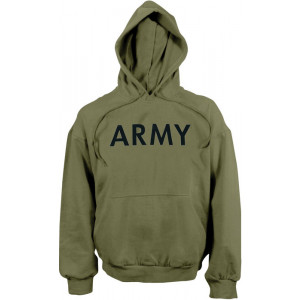 Olive Drab ARMY Physical Training Hooded Sweatshirt