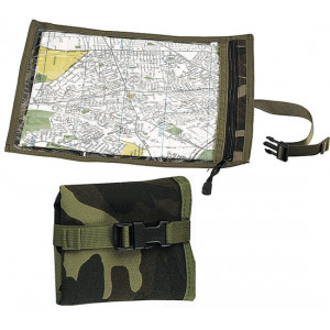Woodland Camouflage Waterproof Nylon Map & Document Case