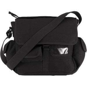 Black Urban Explorer Canvas Shoulder Bag