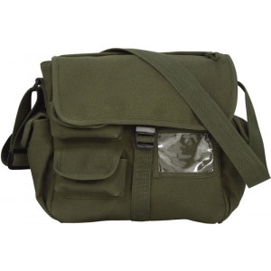 Olive Drab Urban Explorer Canvas Shoulder Bag
