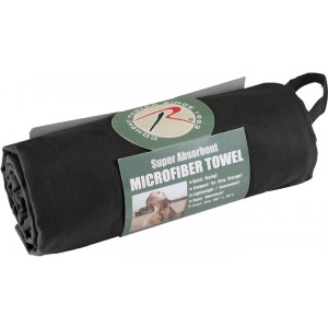 "Black Microfiber Fast Drying Large Body Towel 30"" x 50"""