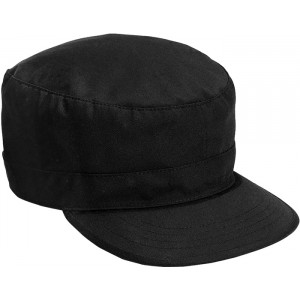 Black Military Adjustable Patrol Fatigue Cap