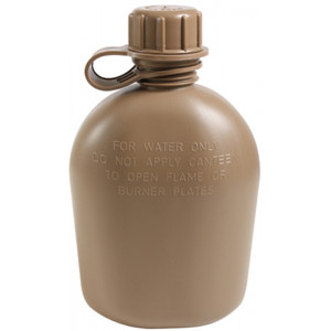 Coyote Brown Genuine GI 3PC 1 Quart Plastic Canteen