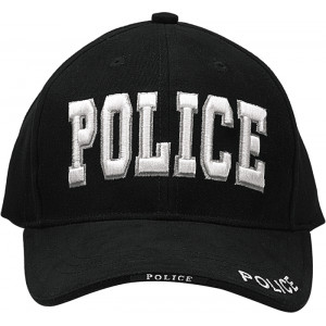 Black Law Enforcement Police Deluxe Low Profile Adjustable Cap