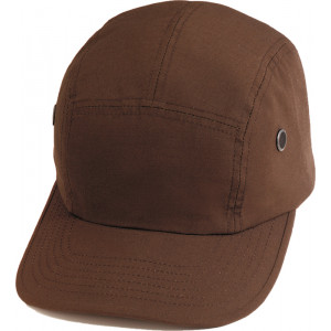 Brown Military Rip-Stop Street Adjustable Hat Urban Cap