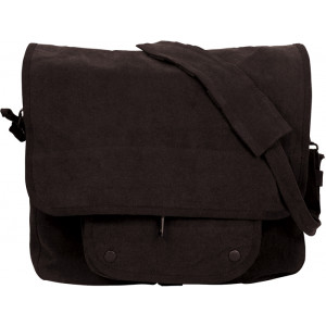 Black Vintage Military Paratrooper Messenger Shoulder Bag