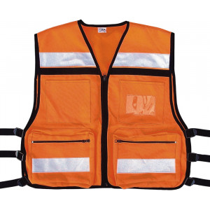 Safety Orange High Visibility EMS Oxford Tactical Rescue Vest