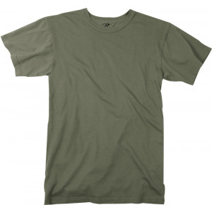 Foliage Green Moisture Wicking Plain Solid Military T-Shirt