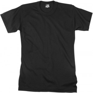 Black Moisture Wicking Solid Military T-Shirt
