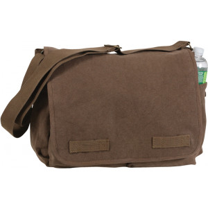 Earth Brown Heavy Weight Classic Messenger Shoulder Bag