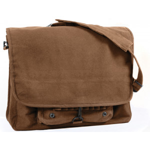Brown Vintage Military Canvas Tactical Paratrooper Bag