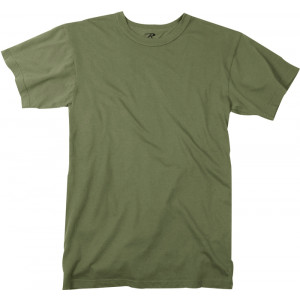 Olive Drab Plain Solid Military Heavyweight T-Shirt