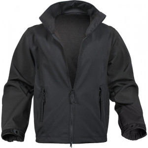 Black Military Soft Shell Casual Uniform Jacket