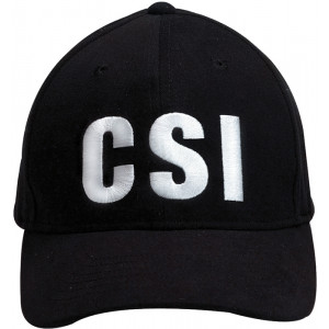 Black Law Enforcement CSI Supreme Low Profile Cap