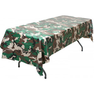 Woodland Camouflage Plastic Tablecloth Linen