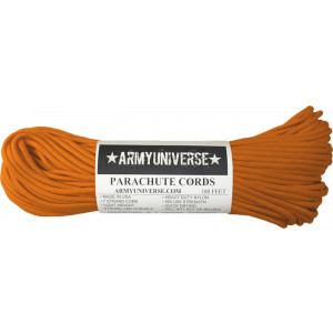 International Orange 550LB Type III Nylon Paracord Rope 100 Feet