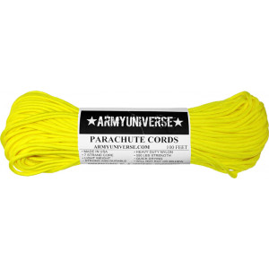 Neon Yellow 550LB Type III Nylon Paracord Rope 100 Feet