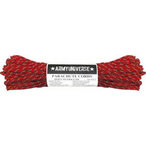 Imperial Red Reflective Flecks 550LB Type III Nylon Paracord Rope 100 Feet