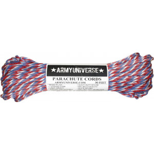 Red White Blue 550LB Type III Nylon Paracord Rope 50 Feet