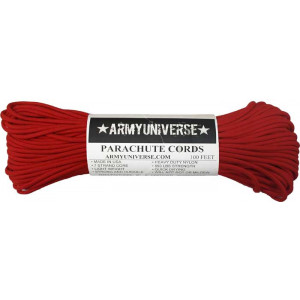 Red 550LB Type III Nylon Paracord Rope 100 Feet