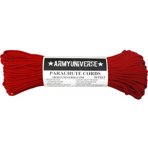 Red 550LB Type III Nylon Paracord Rope 50 Feet