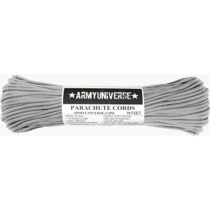 Silver 550LB Type III Nylon Paracord Rope 50 Feet