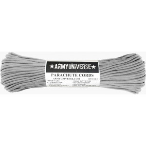 Silver Grey 550LB Type III Nylon Paracord Rope 100 Feet