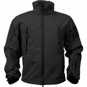 Black Military Special Operations Tactical Soft Shell Jacket