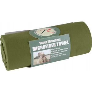 "Olive Drab Microfiber Fast Drying Large Body Towel 30"" x 50"""