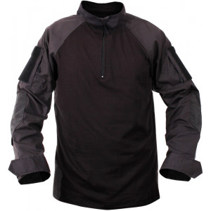 Black 1/4 Zip Military Heat Resistant Tactical Lightweight Combat Shirt