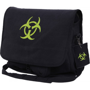 Black Bio-Hazard Vintage Classic Messenger Shoulder Bag