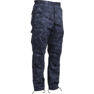 Midnight Digital Camouflage Military Cargo BDU Fatigue Pants