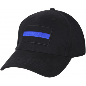 Black Thin Blue Line Support The Police Low Profile Cap