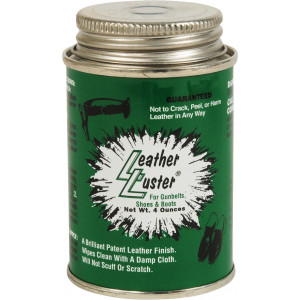 Leather Luster High Gloss Long Lasting Black Finish 4 Oz.