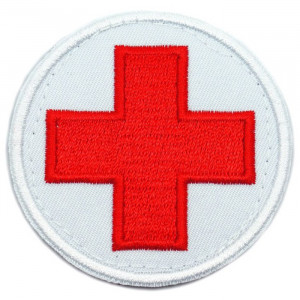 """EMT Red Cross Medic Circle Iron On Patch 3"""""""