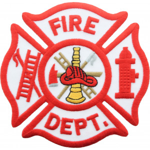"""Fire Department Embroidered Firefighter Jumbo Patch 12"""" USA Made"""
