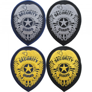 Security Guard Badge Iron-On Patch USA Made
